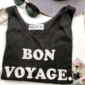 """Wildfox """"Bon Voyage"""" Tank Top, Size S"""